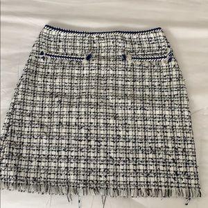 Mini Skirt, white/blue and black